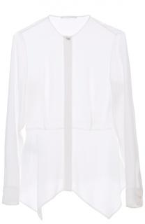 Полупрозрачная приталенная блуза с круглым вырезом HUGO