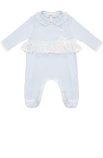 Пижама из хлопка с кружевной отделкой Aletta