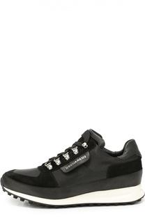 Комбинированные кроссовки на толстой подошве Dsquared2