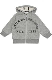 Хлопковая толстовка на молнии с капюшоном Marc Jacobs