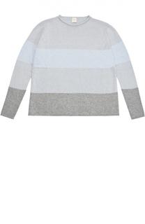 Пуловер в контрастную полоску Kuxo Cashmere