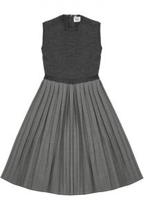 Платье без рукавов с юбкой в складку Caf