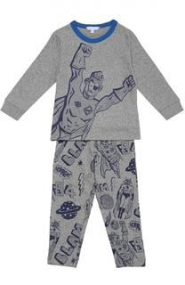 Хлопковая пижама с принтом Marc Jacobs
