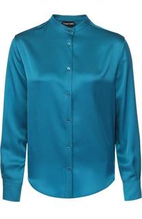 Шелковая блуза прямого кроя с воротником-стойкой Tom Ford