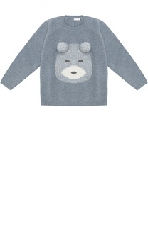 Пуловер из шерсти с аппликацией Il Gufo