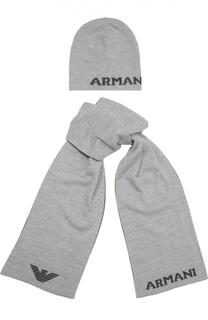 Комплект из шарфа и шапки Giorgio Armani