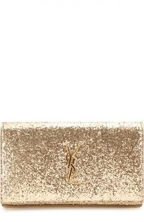 Клатч Monogram с глиттером Saint Laurent