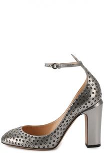 Кожаные туфли Tan-Go со стразами Valentino
