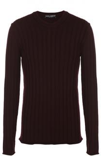 Шерстяной джемпер фактурной вязки Dolce & Gabbana