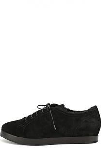 Замшевые туфли на шнуровке Giorgio Armani