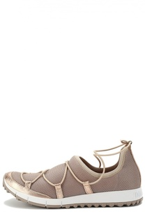 Комбинированные кроссовки Andrea на шнуровке Jimmy Choo