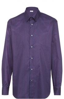 Хлопковая рубашка с узором Brioni