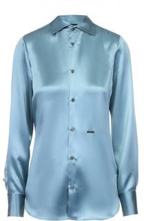 Приталенная шелковая блуза Dsquared2