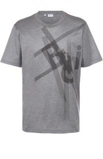 Хлопковая футболка с принтом Brioni