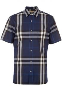 Рубашка из эластичного хлопка с короткими рукавами Burberry