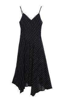Приталенное платье на бретельках с V-образным вырезом DKNY