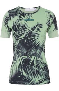 Облегающая футболка с контрастным принтом Adidas by Stella McCartney