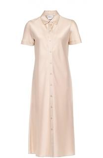 Платье-рубашка прямого кроя с коротким рукавом DKNY
