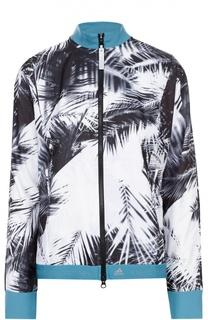 Ветровка на молнии с контрастным принтом Adidas by Stella McCartney