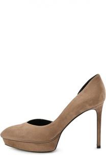 Замшевые туфли Janis на шпильке Saint Laurent