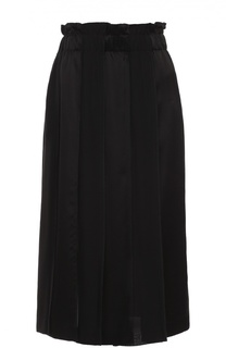 Юбка-миди в складку с эластичным поясом DKNY
