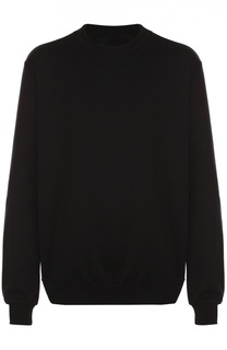 Хлопковый свитшот с вышивкой на груди Dolce & Gabbana