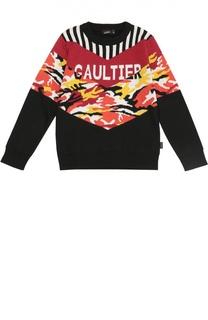 Шерстяной джемпер с контрастным принтом Jean Paul Gaultier