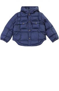 Утепленная куртка на кнопках с капюшоном Polo Ralph Lauren