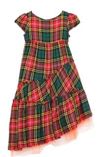 Асимметричное платье в клетку Jean Paul Gaultier