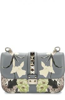 Сумка Glam Lock medium с цветочным принтом Valentino