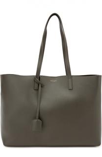 Кожаная сумка-шоппер с косметичкой Saint Laurent