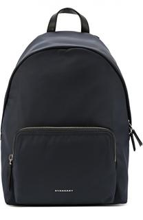 Рюкзак с внешним карманом и отделкой из натуральной кожи Burberry