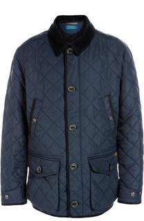 Стеганая куртка с отложным воротником Polo Ralph Lauren