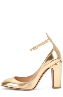 Туфли Tan-Go из металлизированной кожи Valentino