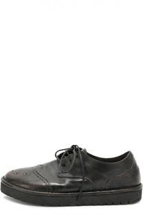 Кожаные ботинки с брогированием Marsell