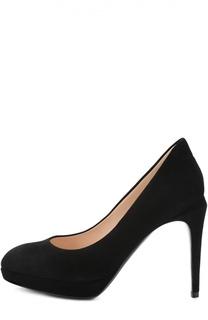 Замшевые туфли на шпильке Fendi