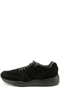 Замшевые кроссовки на шнуровке Z Zegna