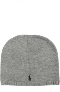 Вязаная шапка из шерсти Polo Ralph Lauren