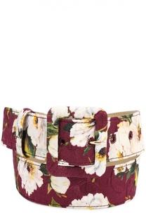 Ремень с цветочным принтом Dolce & Gabbana