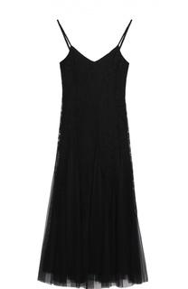 Кружевное приталенное платье на бретельках Polo Ralph Lauren
