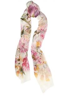 Шелковый шарф с принтом Dolce & Gabbana