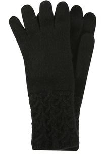 Перчатки из кашемира с фактурным узором Johnstons Of Elgin