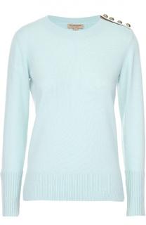 Кашемировый пуловер прямого кроя с декоративной отделкой Burberry