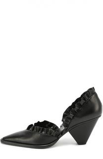 Кожаные туфли с оборками Stella McCartney