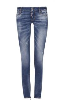 Укороченные джинсы-скинни с декоративными потертостями Dsquared2
