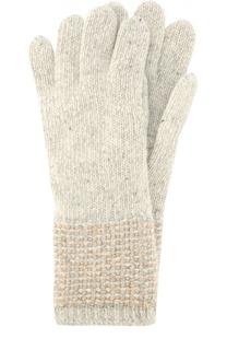 Перчатки из кашемира фактурной вязки Johnstons Of Elgin