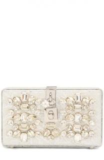 Клатч Dolce Box с отделкой стразами Dolce & Gabbana