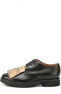 Кожаные ботинки с бахромой Dries Van Noten