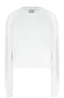 Хлопковый пуловер с круглым вырезом Acne Studios