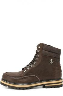 Кожаные ботинки на шнуровке с молнией Bogner